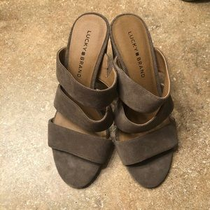 Lucky Brand Suede Strappy Heels